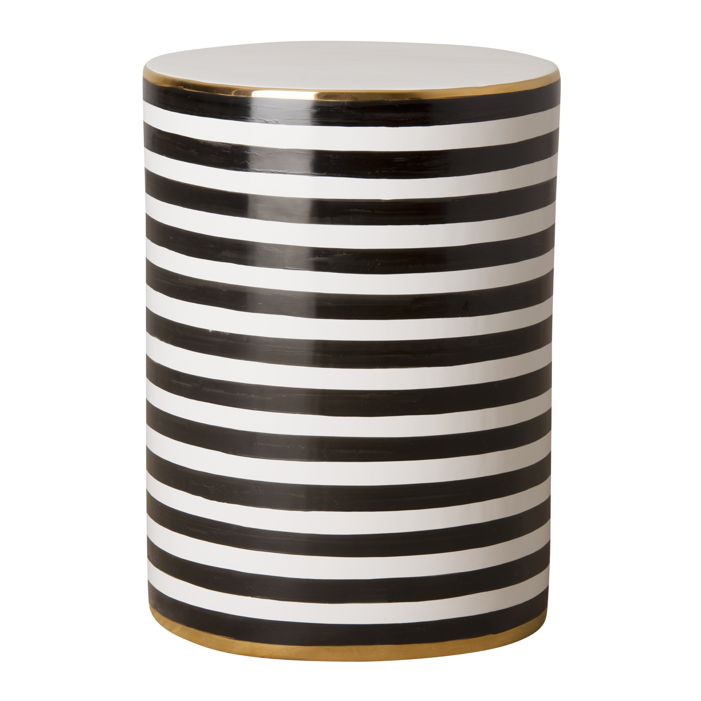 Siena Stripe Garden Stool Table