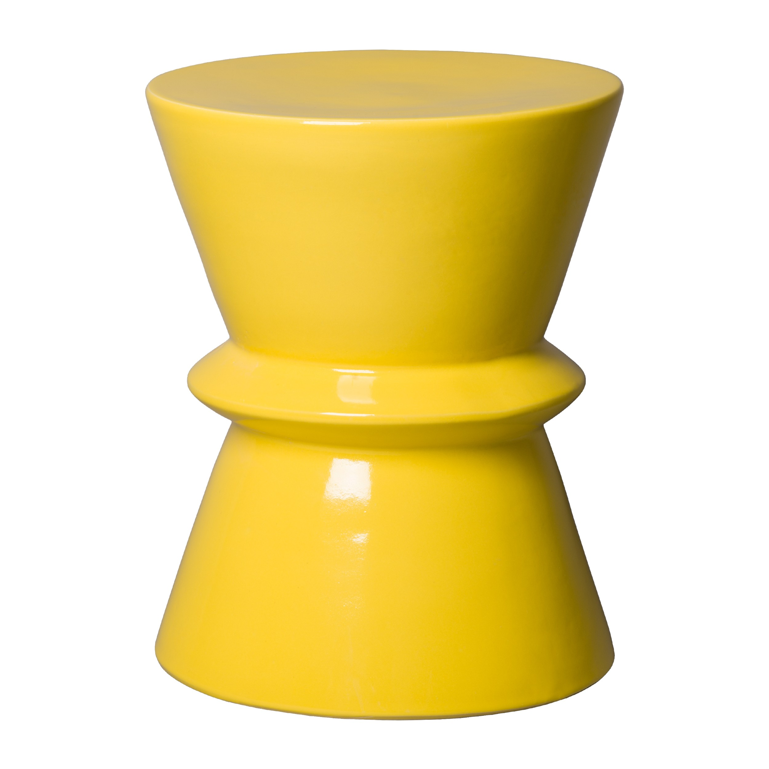 Yellow Ceramic Garden Stool Bar Stools