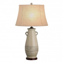 Tall Twig Handle Urn Lamp