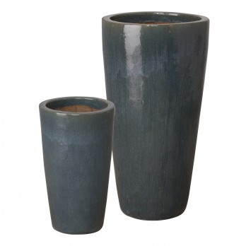 Set of 2 Round Tall Planters