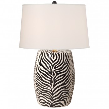 Zebra Stool Lamp