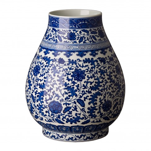 Porcelain Barrel Vase