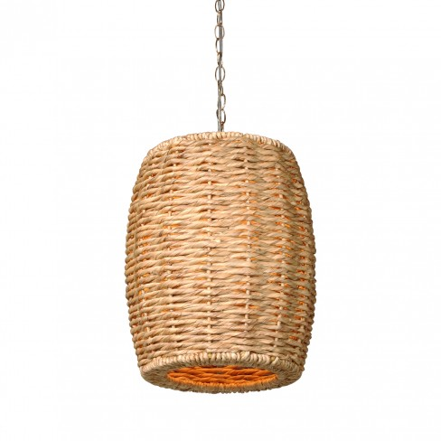 Drum Stool Water Hyacinth Pendant