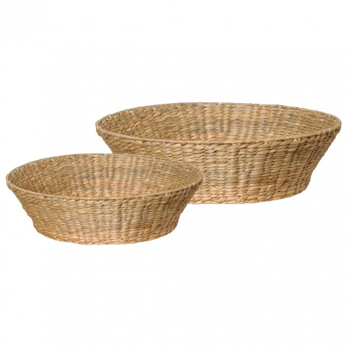 Set of 2 Water Hyacinth Bowls