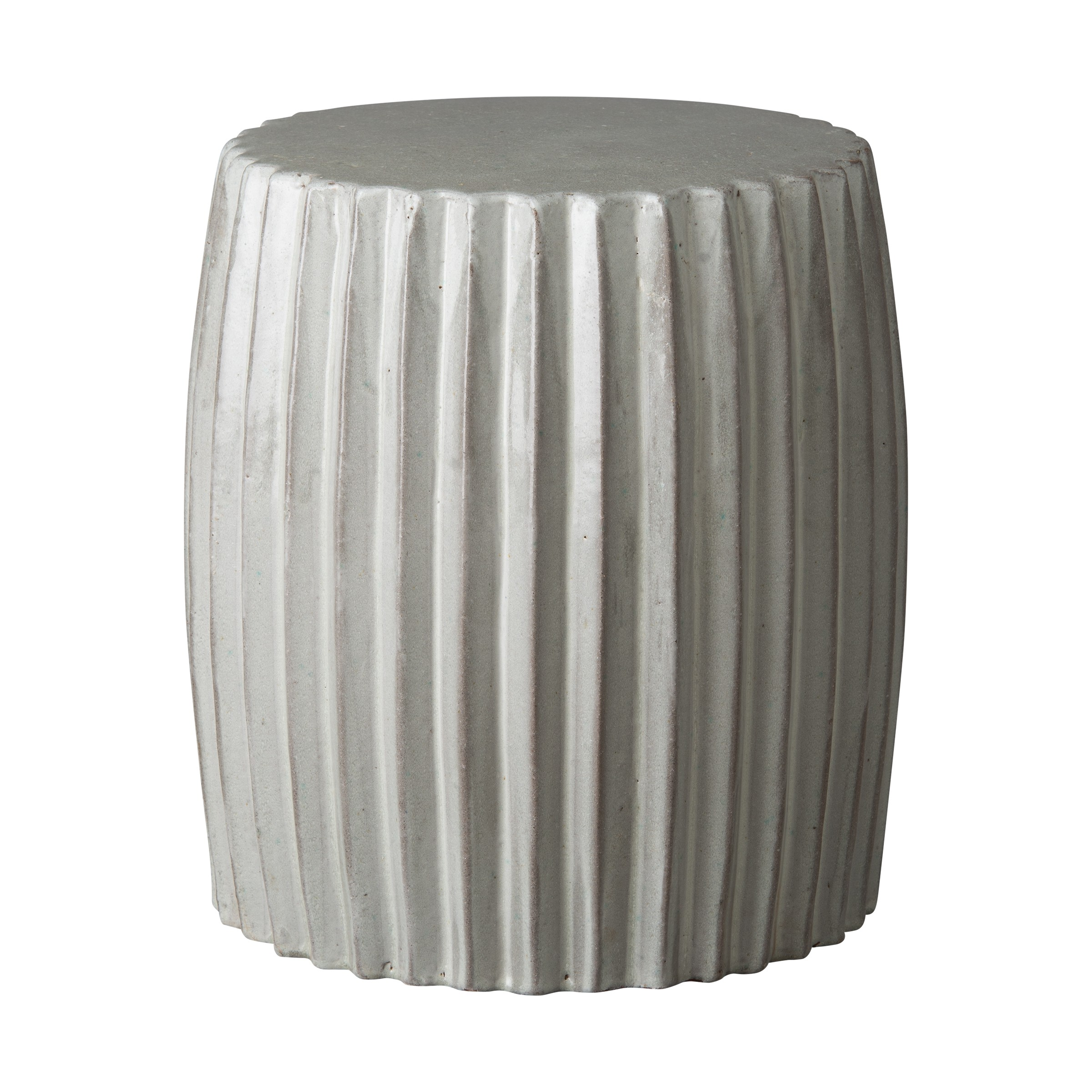 Pleated Garden Stool Table