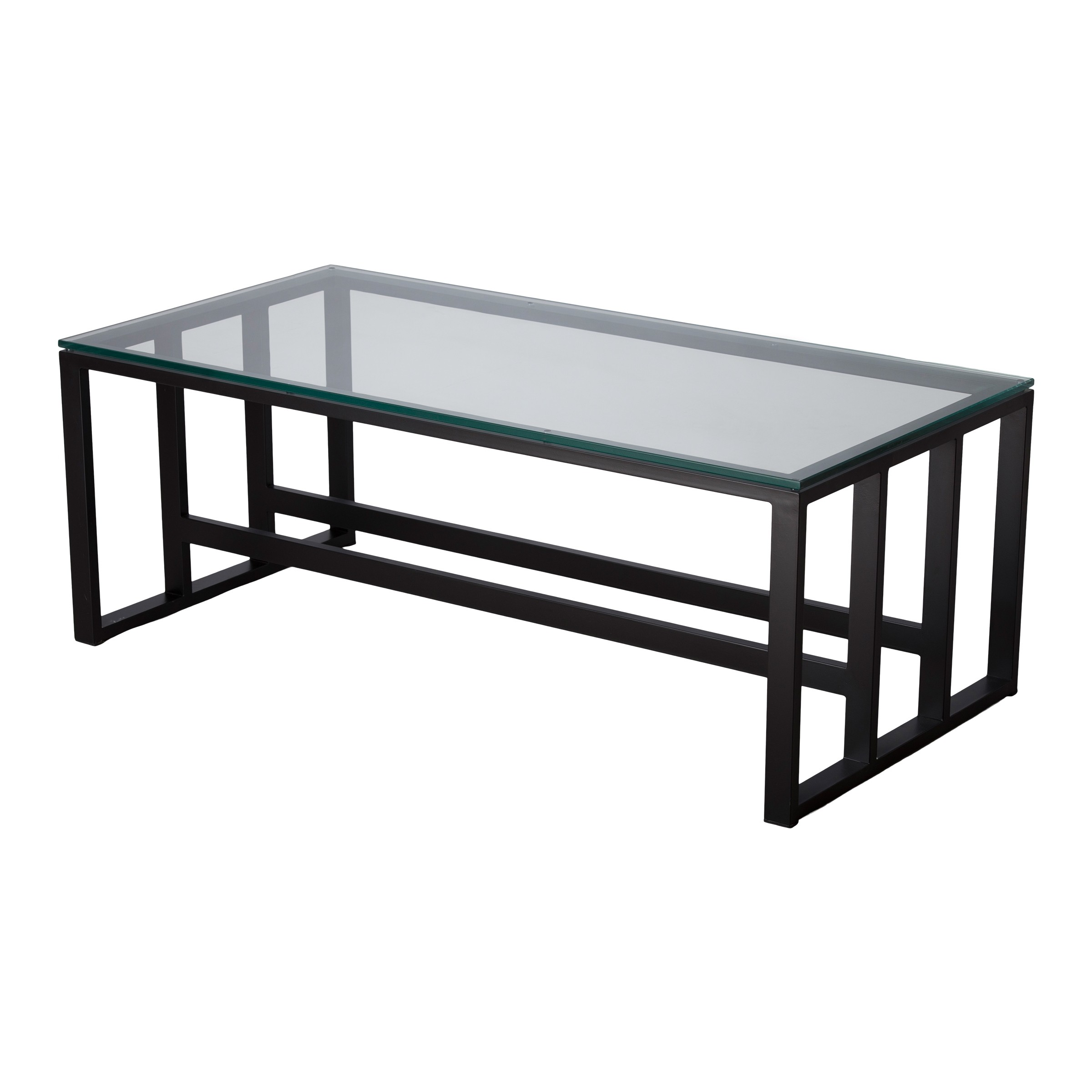 18 In Rectangle Grill Metal Coffee Table
