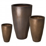 Set of 3 Tall Round Planters