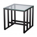 24 in. Square Grill Metal End Table