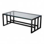 18 in. Rectangle Grill Metal Coffee Table