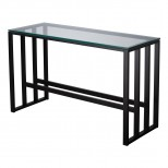 29 in. Rectangle Grill Metal Sofa Table