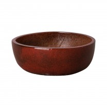18 in. Dia Round Shallow Ceramic Planter