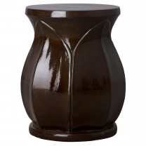 22 in. Large Lotus Ceramic Garden Stool/Table