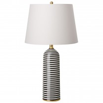 Siena Stripe Vase Lamp