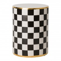Torino Checker Garden Stool/Table