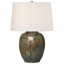 Botanical Relief Vase Lamp