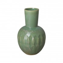 16 in. Ellipse Neck Ceramic Vase