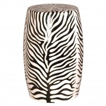 Zebra Garden Stool
