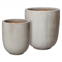 Set of 2 Round Pots