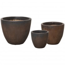 Set of 3 Round Pots