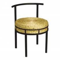 Round Chair with Hyacinth Cushion