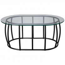 Oval Race Track Coffee Table