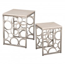 Set of 2 Square Ring Stools/Tables