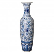 56 in. Tall Porcelain Vase