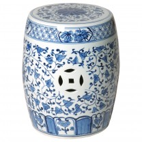 Porcelain Drum Garden Stool