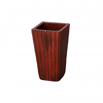 9.5 in. Fluted Square Ceramic Planter
