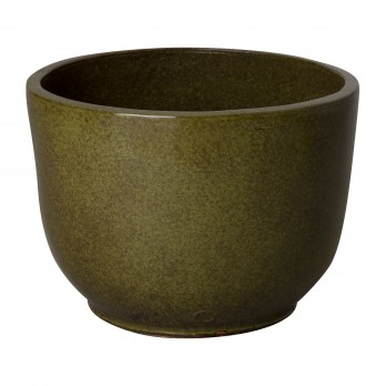 17 in. Round Ceramic Planter