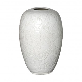 Botanical Relief Vase
