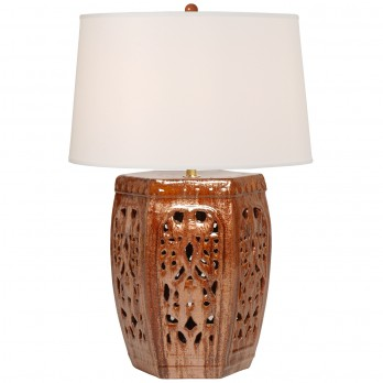 Hexagon Lattice Stool Lamp