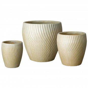 Set of 3 Spiral Planters