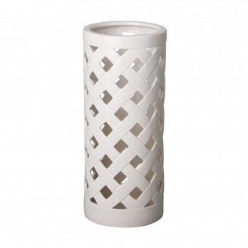 Criss Cross Ceramic Umbrella Stand