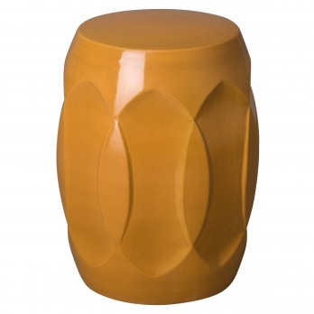 18 in. Ellipse Ceramic Garden Stool/Table