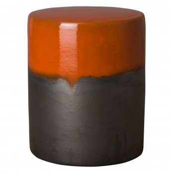 22 in. Two-Tone Ceramic Garden Stool/Table