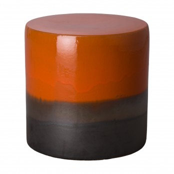 18 in. Two-Tone Ceramic Garden Stool/Table