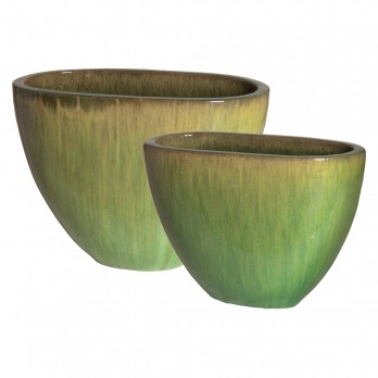 Set of 2 Oval Planters