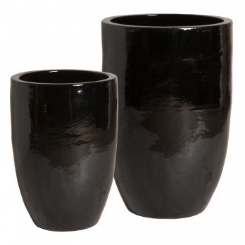 Set of 2 Tall Round Planters