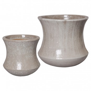 Set of 2 Concave Planters