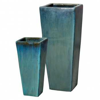 Set of 2 Tall Square Planters