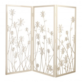 Daisy Three-Panel Screen