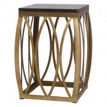Large Vault Metal Stool/Table