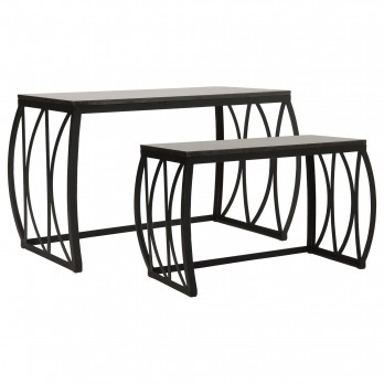 Metal Rectangle Nesting Benches