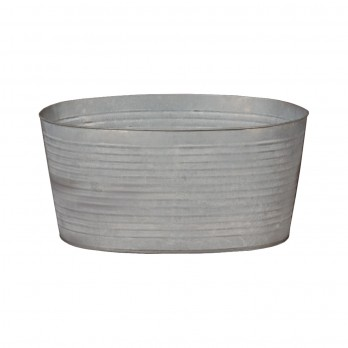 Medium Oval Galvanized Zinc Tub