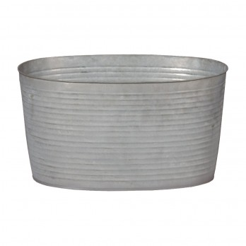 Large Oval Galvanized Zinc Tub
