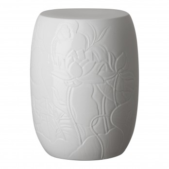 Lotus Engraved Garden Stool/Table