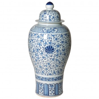 Large Porcelain Temple Jar