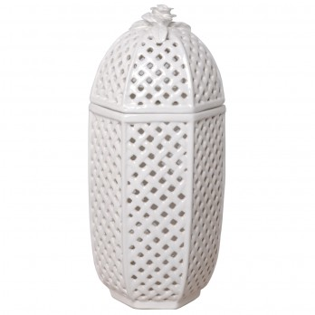 Tall Trellis Container with Lid