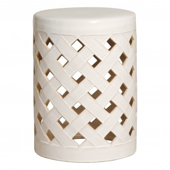 Criss Cross Garden Stool